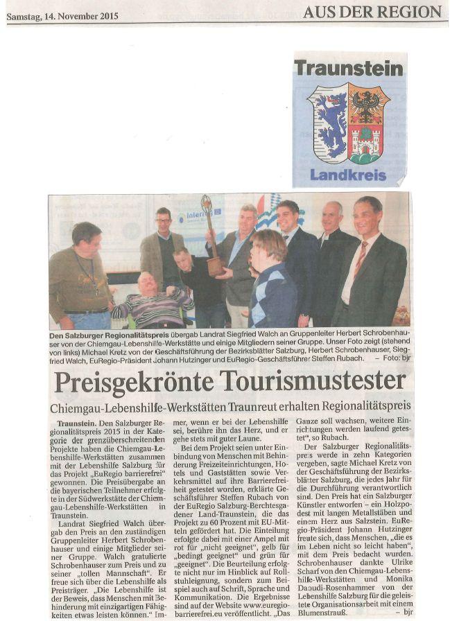 Traunreuter Anzeiger, 14.11.2015