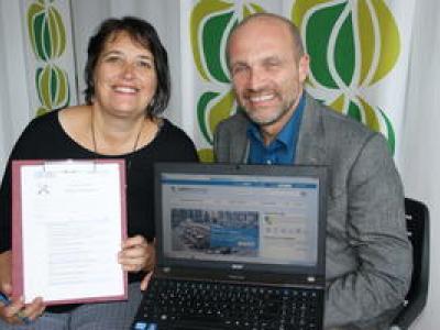 Projektleiterin Monika Daoudi-Rosenhammer mit Guido Güntert, GF Lebenshilfe